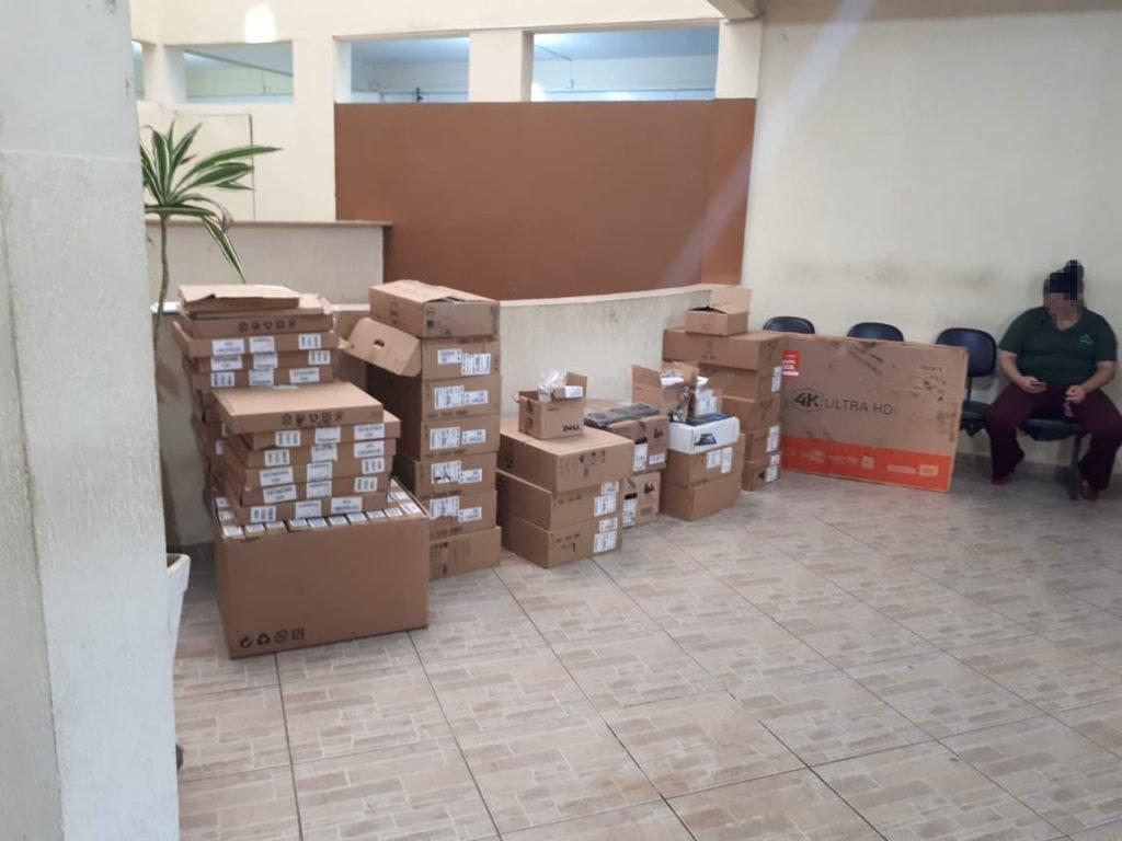 Recuperação carga de eletrônicos e medicamentos Skymark