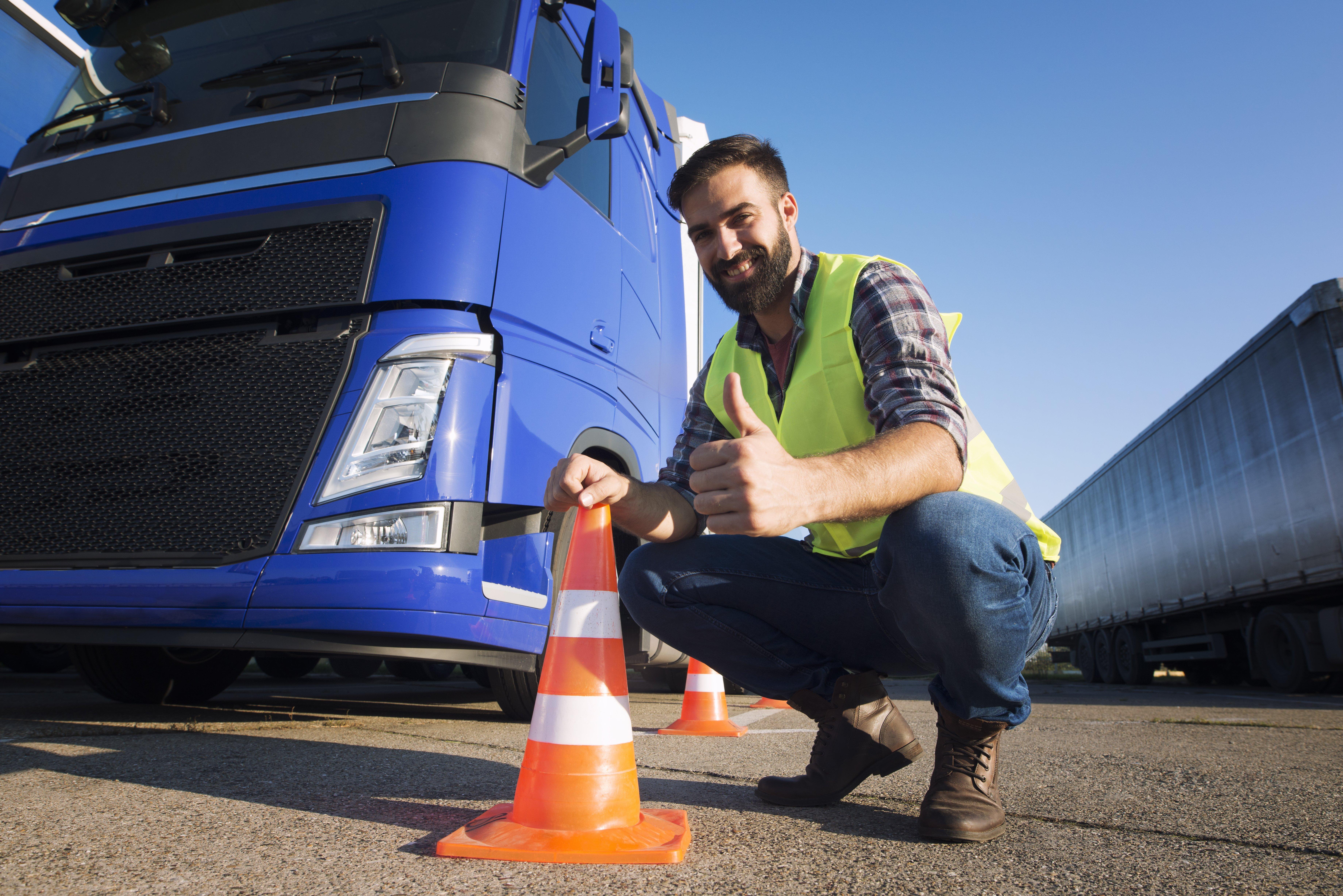 Treinamento de gerenciamento de riscos para motoristas de transporte de carga