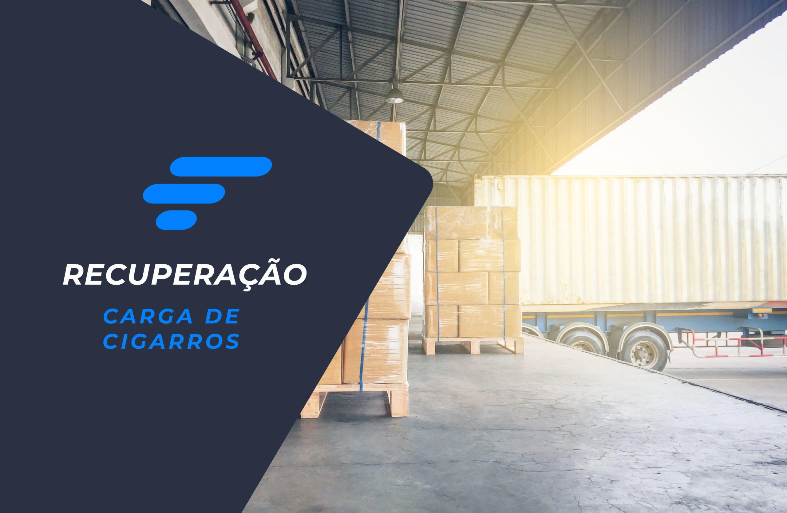 Carga de cigarros roubada em Curitiba é recuperada com apoio da Skymark Gerenciadora de Risco