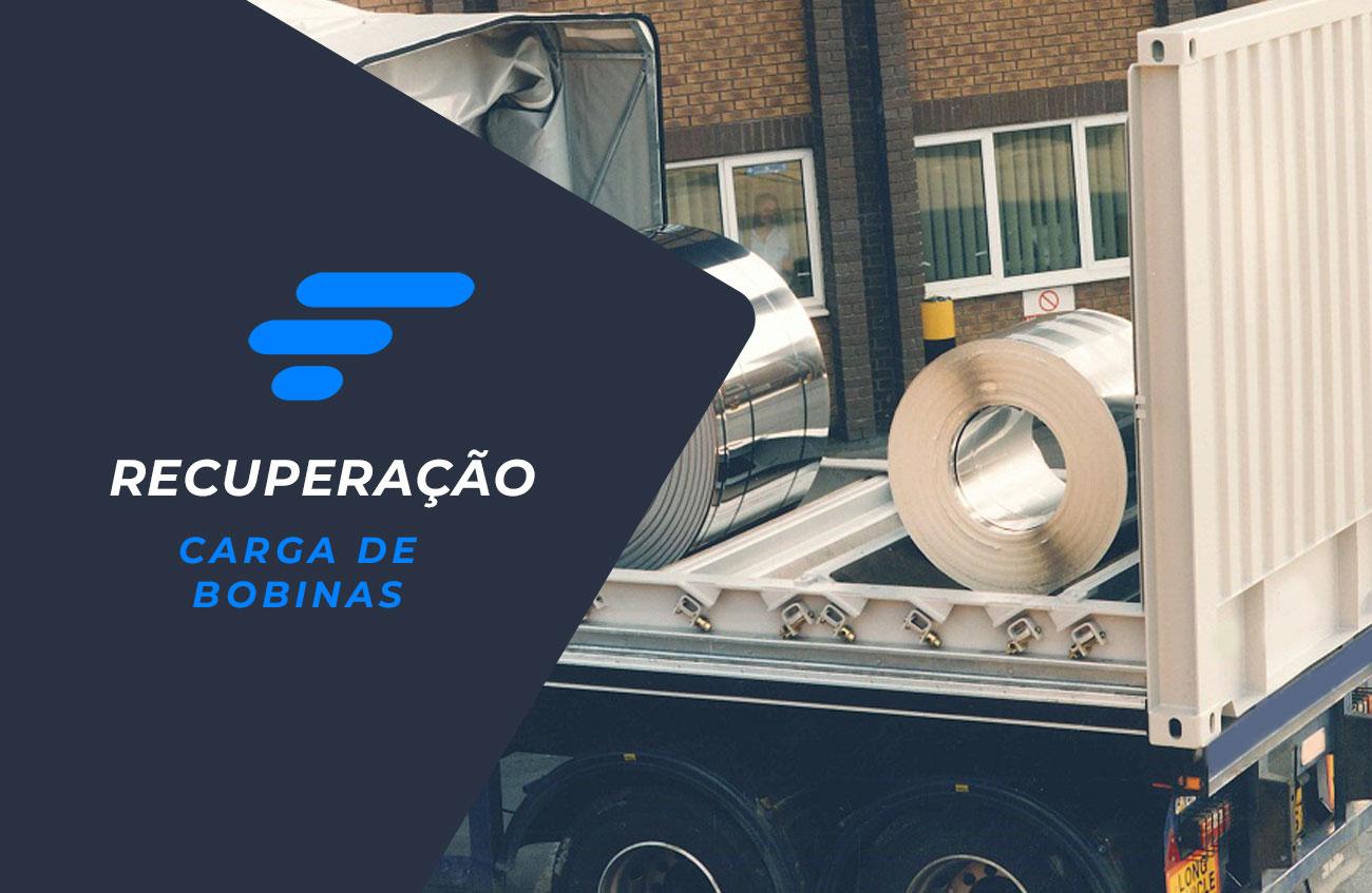 Carga de bobinas de aço avaliada em R$ 156.072,24 é recuperada no interior de São Paulo